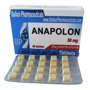 Anapolon Анаполон 50 мг, 100 таблеток, Balkan Pharmaceuticals в Актау
