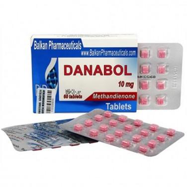 Danabol Данабол Метандиенон Метан 10 мг, 100 таблеток, Balkan Pharmaceuticals в Актау