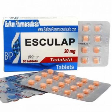 Esculap Тадалафил Эскулап 20 мг, 20 таблеток, Balkan Pharmaceuticals в Актау